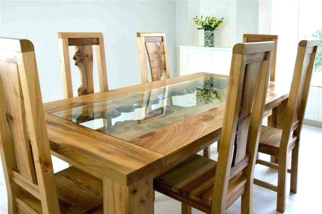 Wooden Dining Tables Glass Top Modern Table Sets Models Com Inside Contemporary 4 Seating Oblong Dining Tables (View 18 of 25)