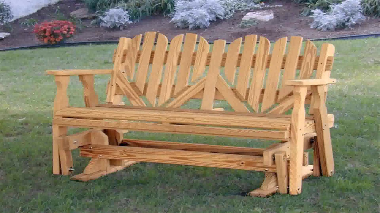 Wooden Porch Glider Plans – Youtube Intended For Hardwood Porch Glider Benches (View 18 of 25)
