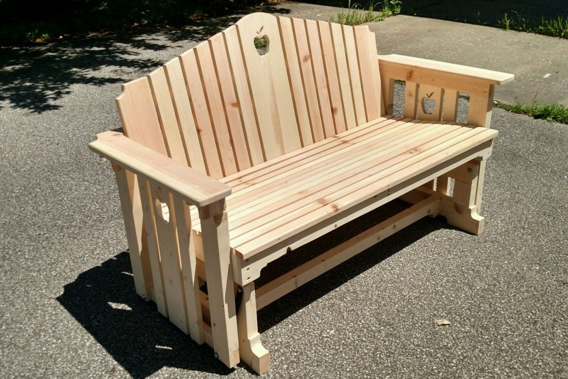 Wooden Porch Glider Swings With Hardwood Porch Glider Benches (View 22 of 25)