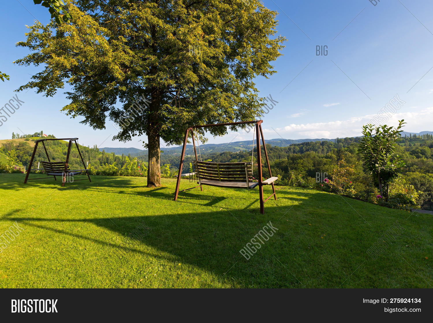 Wooden Porch Swing Image & Photo (Free Trial) | Bigstock With Regard To Vineyard Porch Swings (Image 24 of 25)