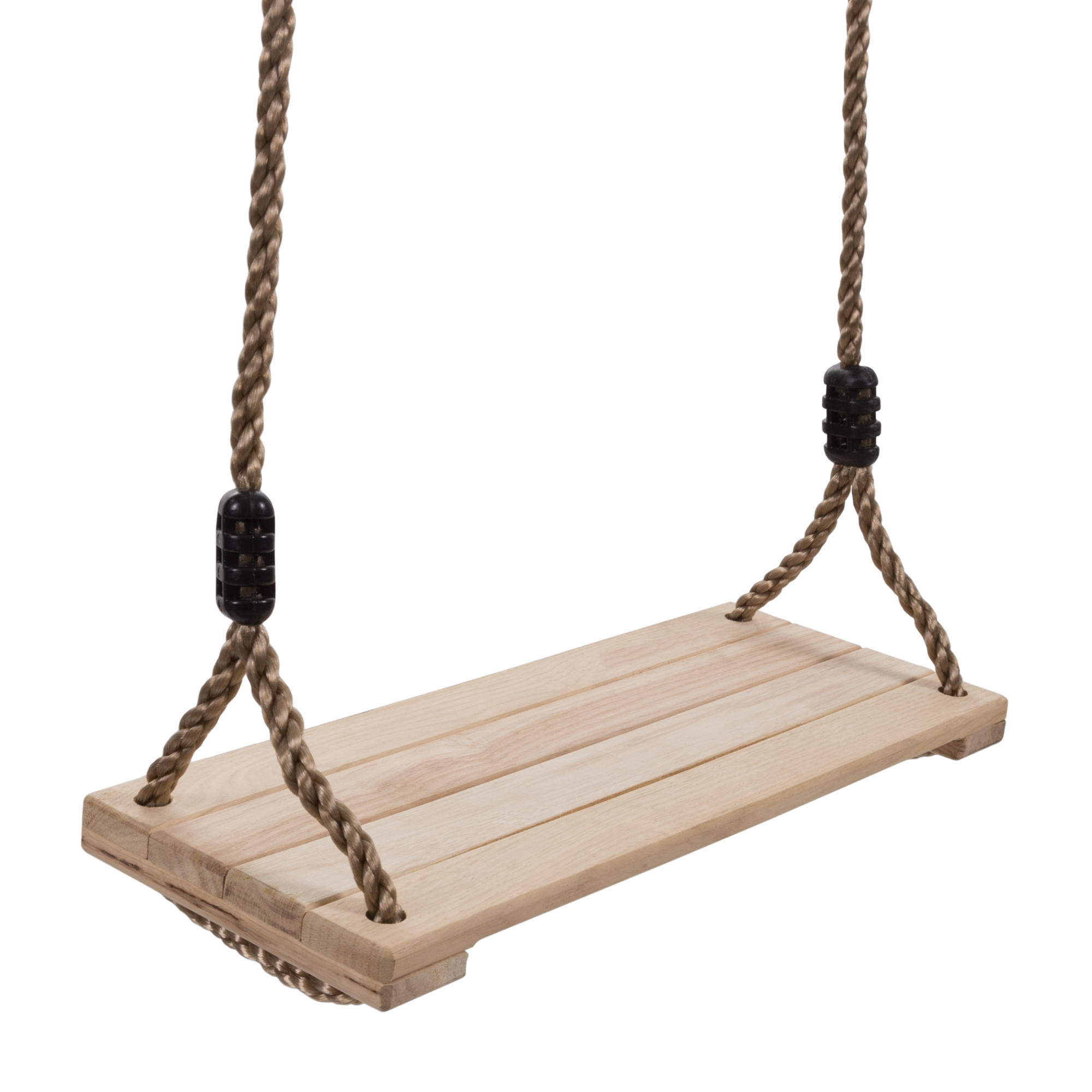 Wooden Swing, Outdoor Flat Bench Seat With Adjustable Nylon With Outdoor FurnitureYacht Club 2 Person Recycled Plastic Outdoor Swings (View 24 of 25)