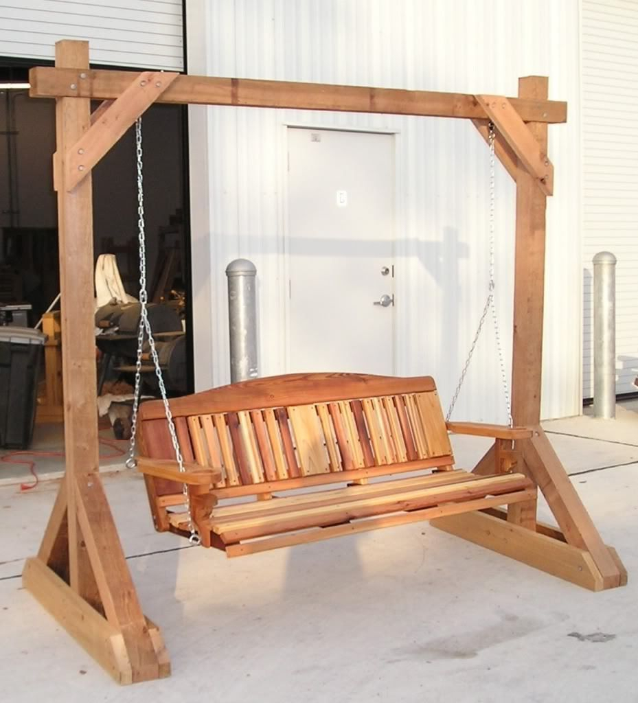 Woodworking Plans – Free Standing Porch Swing Stand   Ebay Regarding Porch Swings With Stand (View 7 of 25)