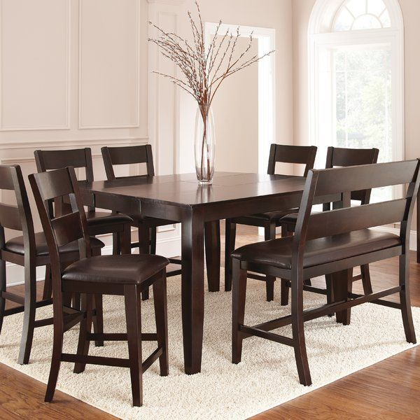 Wynwood Counter Height Dining Table In 2019 | Wishful Inside Espresso Finish Wood Classic Design Dining Tables (View 10 of 25)