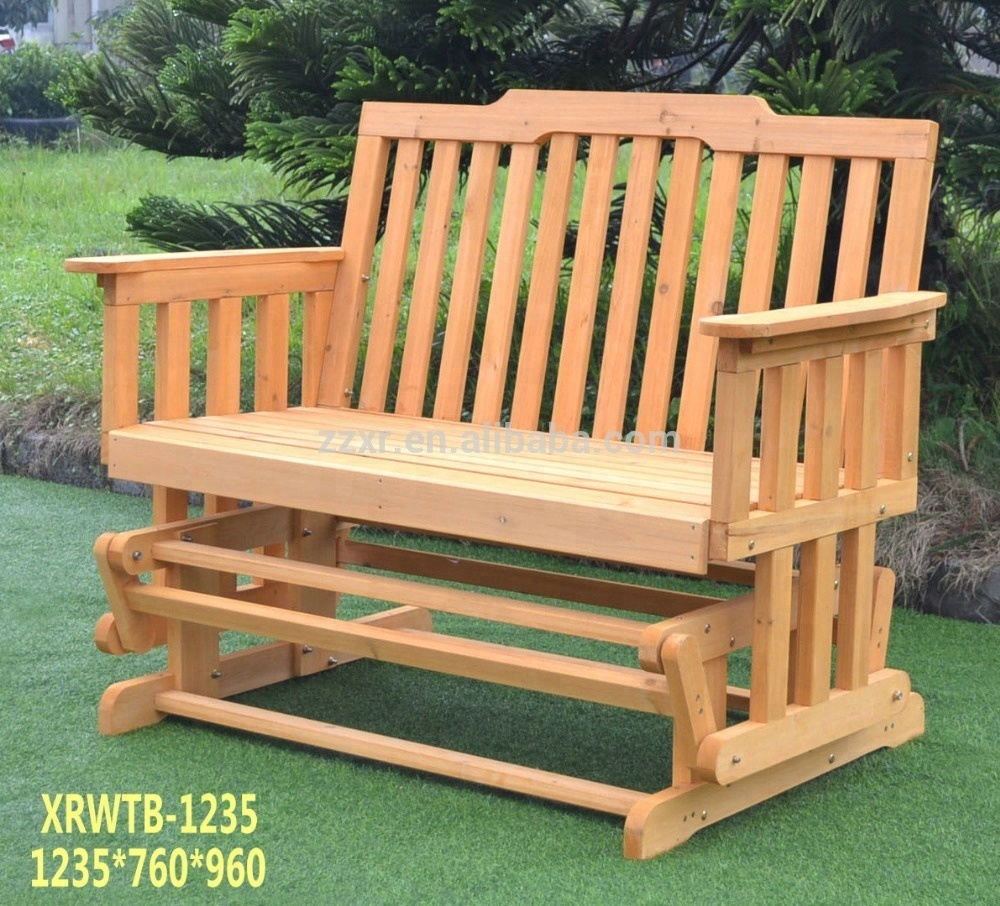 Xrwtb 1235 Outdoor Double Swing Glider Rocking Chair Bench – Buy Glider Bench,rocking Chair,swing Bench Product On Alibaba Regarding Rocking Glider Benches (View 2 of 25)
