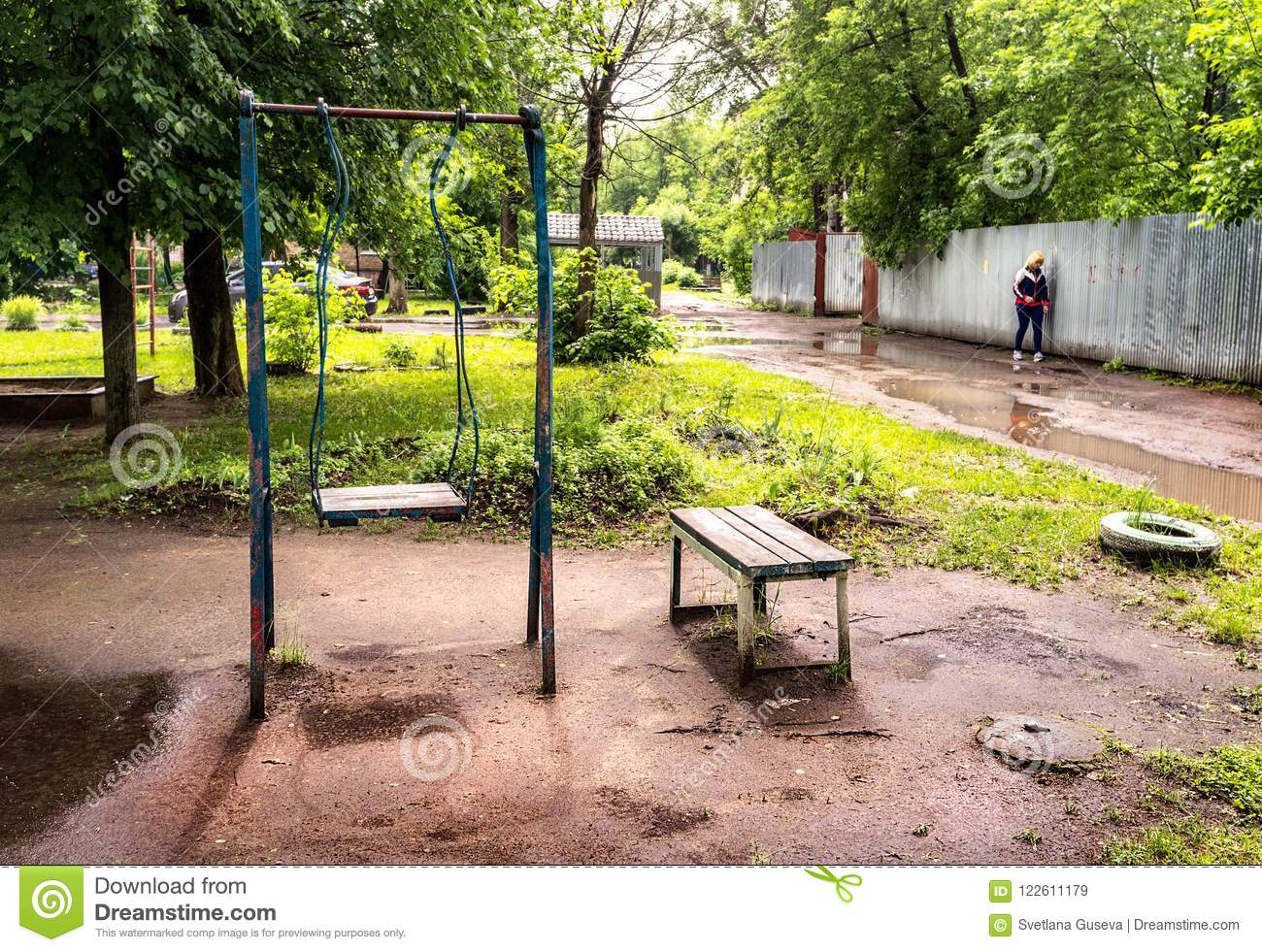 Yard. Old Swings. Editorial Stock Image (View 10 of 25)