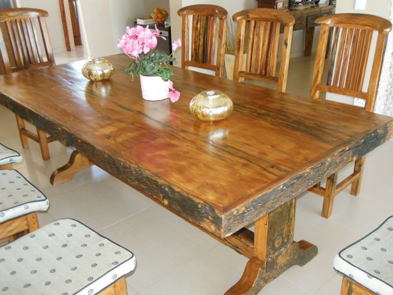 Ysterhout (Ironwood) 8 Seater Dining Table And Chairs (View 2 of 25)