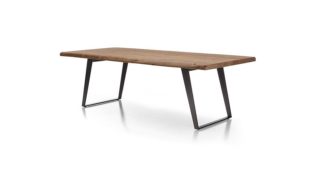 Yukon Natural Dining Table | Crate And Barrel | Dining Table In Solid Acacia Wood Dining Tables (Image 25 of 25)
