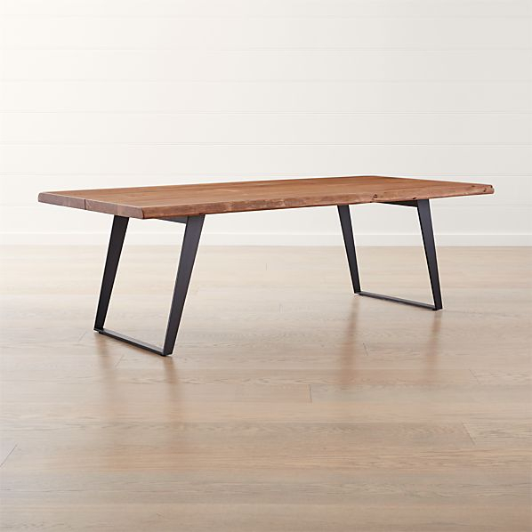 Yukon Natural Dining Table Throughout Acacia Dining Tables With Black X Leg (Image 24 of 25)
