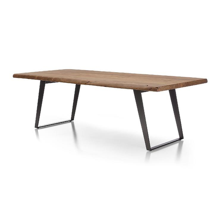 Yukon Wood U Steel Legs Dining Table For Acacia Top Dining Tables With Metal Legs (Image 25 of 25)