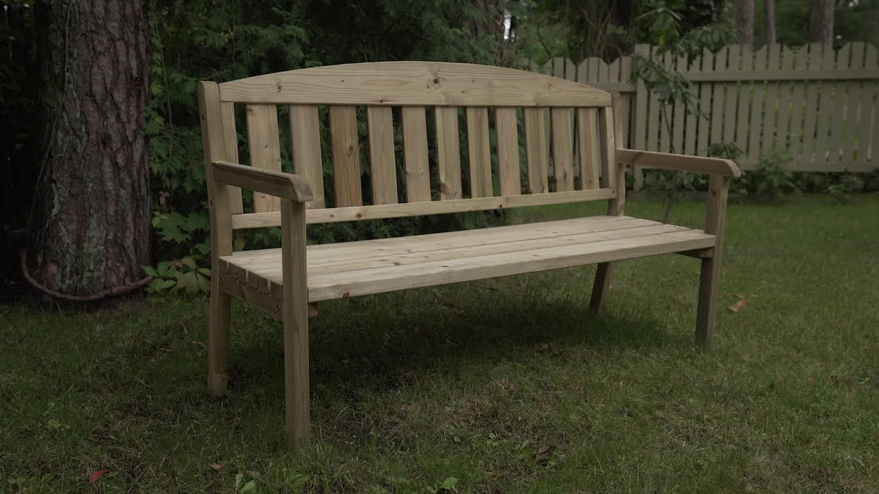 253071 01 Three Seater Garden Bench Throughout Avoca Wood Garden Benches (View 21 of 25)