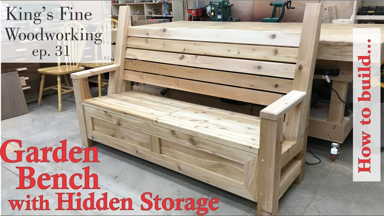 31 – How To Build Garden Bench With A Hidden Storage Compartment Throughout Walnut Solid Wood Garden Benches (View 18 of 25)