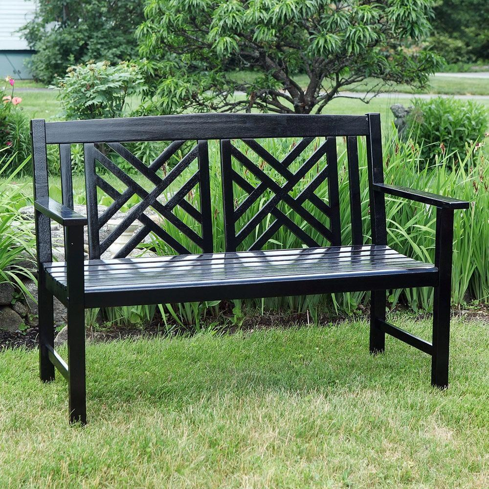 4' Arts And Crafts Bench (4 Finishes) — Living Gardens Throughout Amabel Wooden Garden Benches (View 12 of 25)