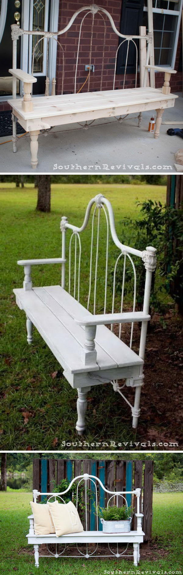 40 Creative Outdoor Bench Diy Ideas And Tutorials 2017 For Tree Of Life Iron Garden Benches (View 20 of 25)