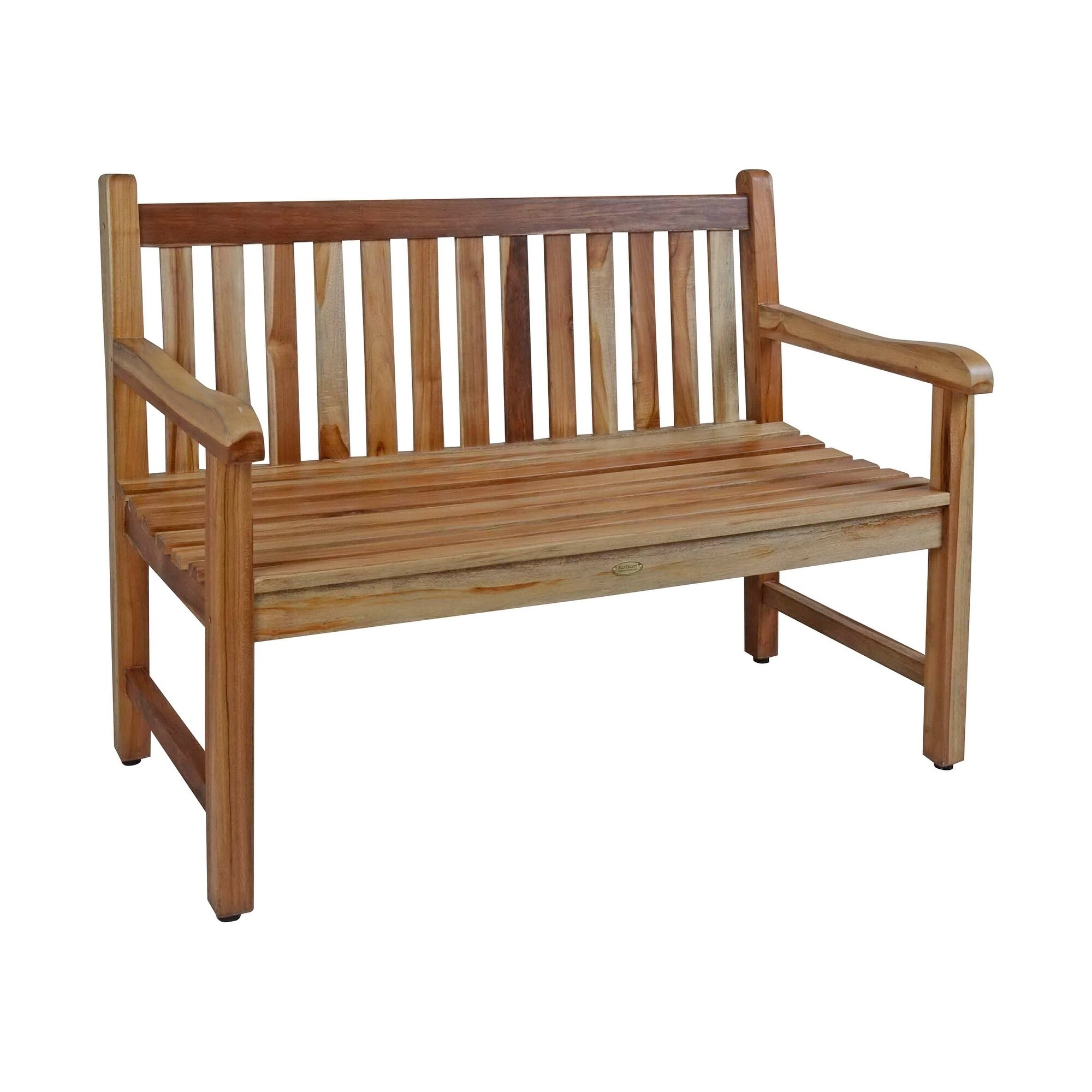 "47"" Ecodecors Hampstead Heath Indoor Or Outdoor Solid Teak Bench In Earthyteak Finish Within Hampstead Teak Garden Benches (View 3 of 25)"