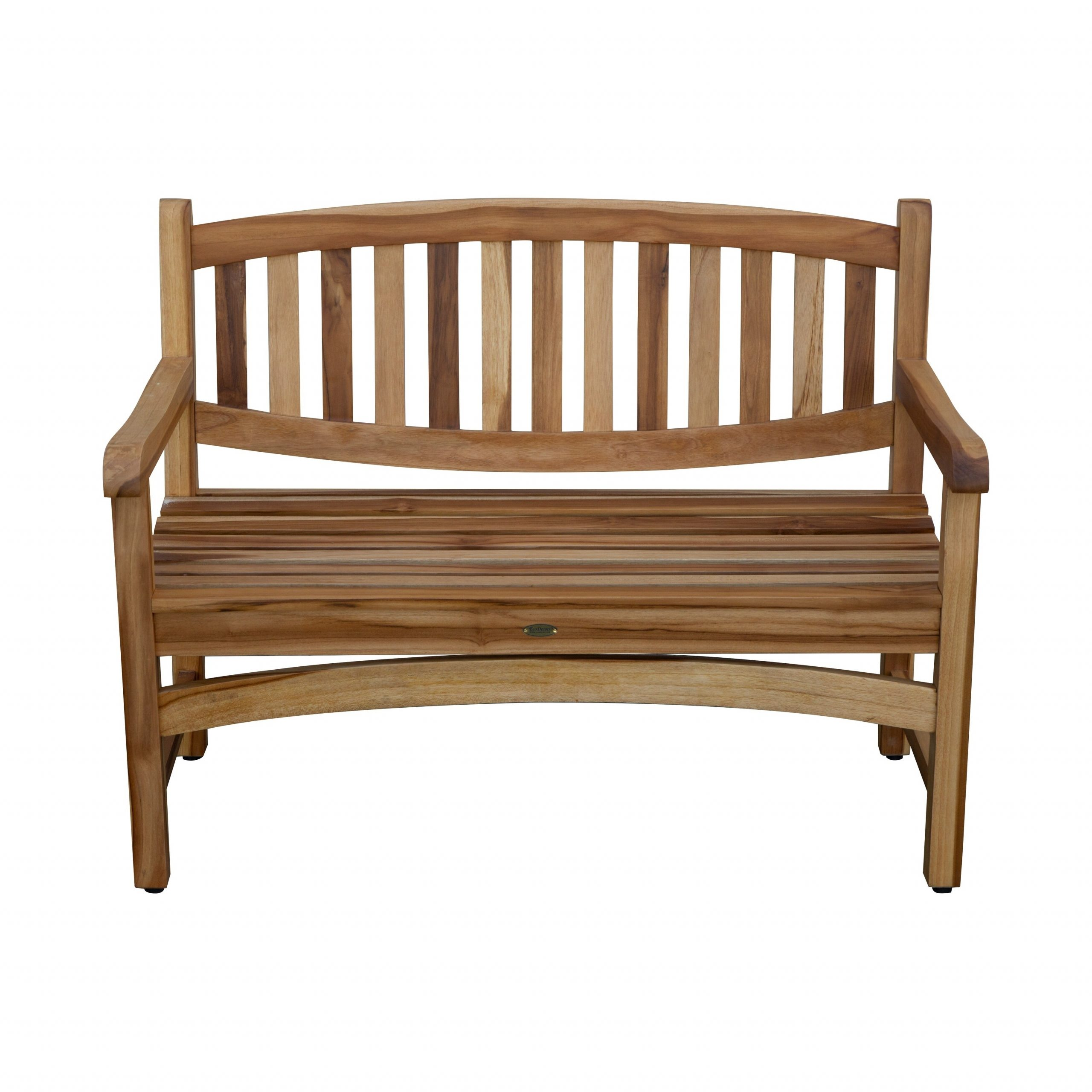 "47"" Ecodecors Kent Garden Indoor Or Outdoor Solid Teak Bench In Earthyteak Finish With Hampstead Teak Garden Benches (View 15 of 25)"