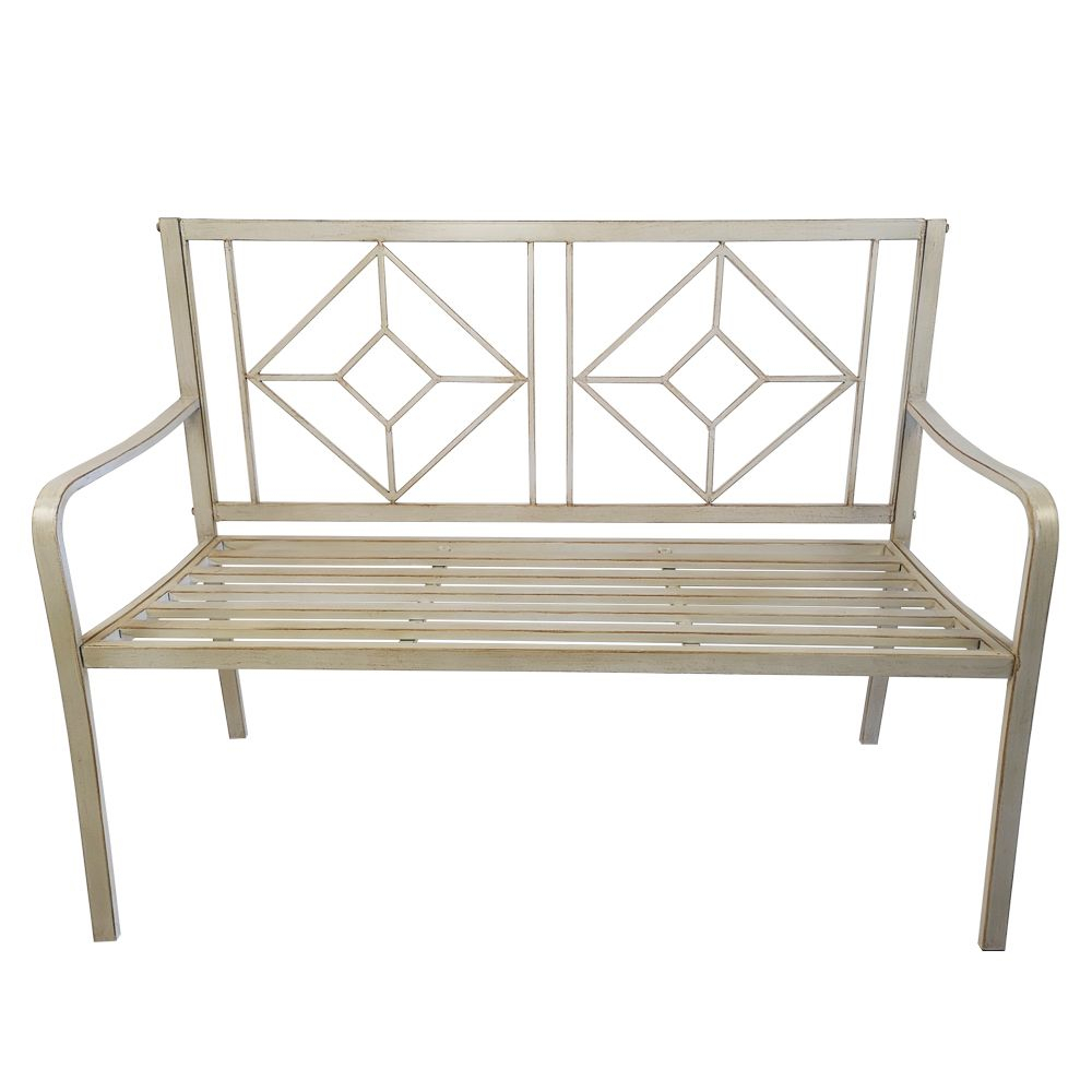 "48"" Patio Garden Bench Park Yard Outdoor Furniture Steel Intended For Gabbert Wooden Garden Benches (View 15 of 25)"