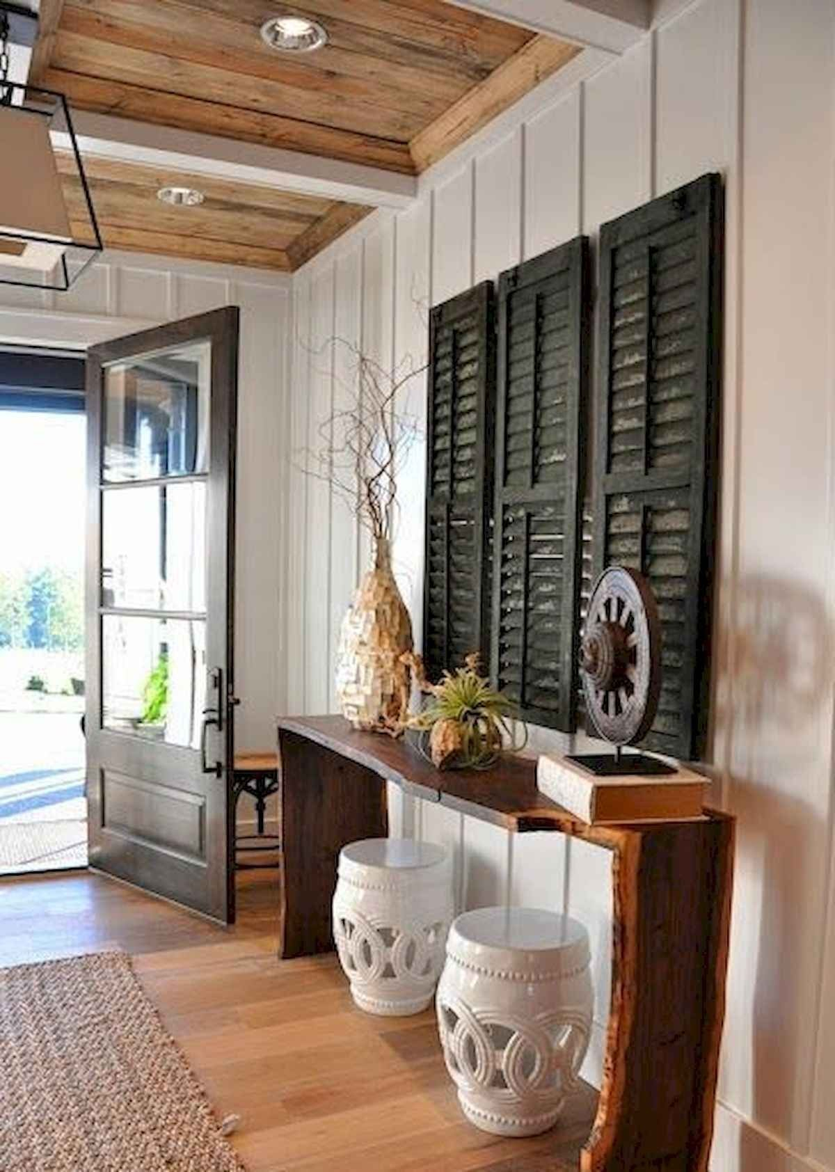 50 Stunning Farmhouse Entryway Design Ideas In 2020 | Entry Pertaining To Svendsen Ceramic Garden Stools (View 19 of 25)