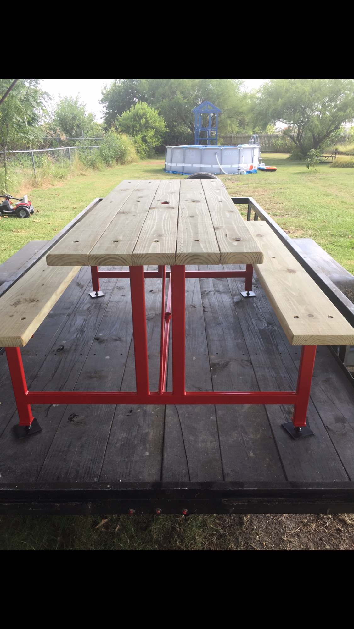 6' Steel Frame Picnic Table | Metal Picnic Tables, Welded Pertaining To Pettit Steel Garden Benches (View 22 of 25)