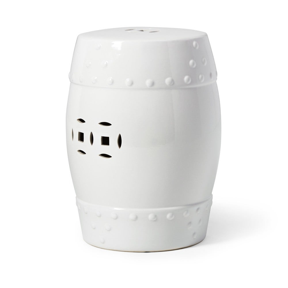 Abbyson Madras White Ceramic Garden Stool With Bonville Ceramic Garden Stools (View 9 of 25)