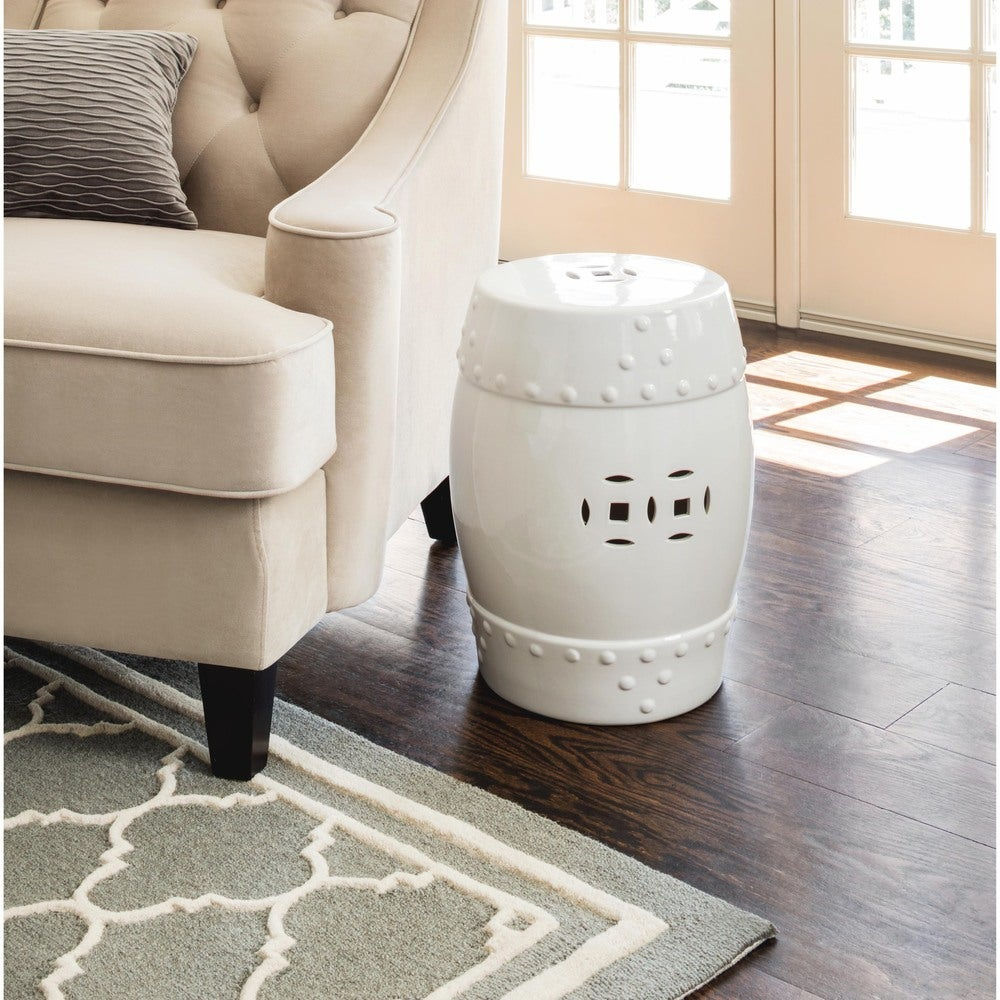 Abbyson Madras White Ceramic Garden Stool With Bonville Ceramic Garden Stools (View 6 of 25)
