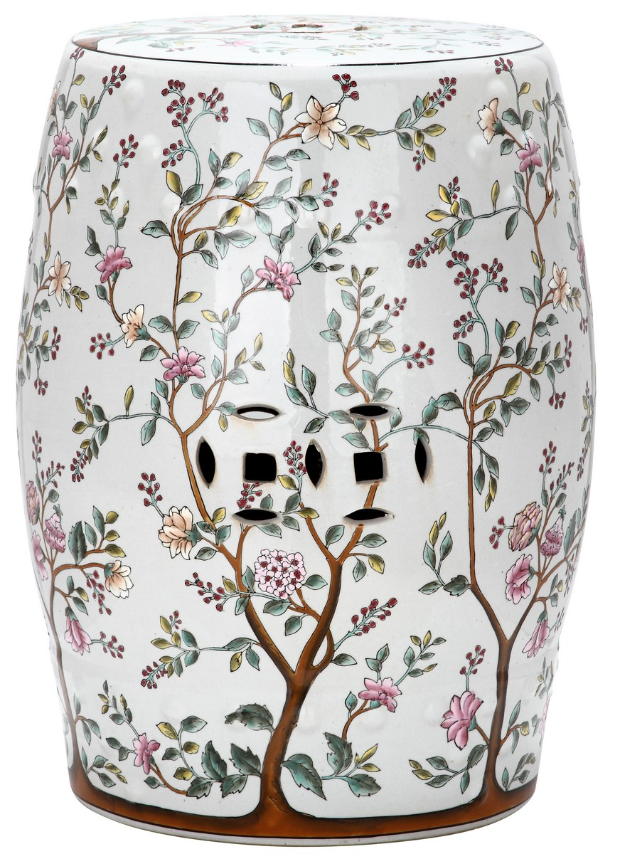 Acs4513A Garden Stools – Safavieh | Ceramic Garden Stools Throughout Janke Floral Garden Stools (View 5 of 25)