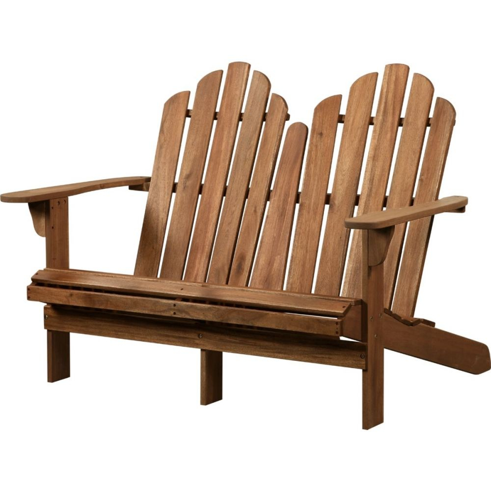 Adirondack Double Bench – Linon 21158T36 01 Kd U In 2020 Throughout Guyapi Garden Benches (View 21 of 25)