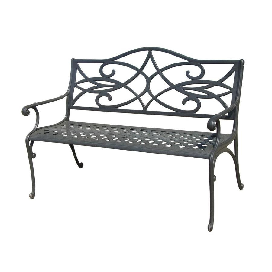 Aluminum Patio Benches At Lowes With Regard To Ismenia Checkered Outdoor Cast Aluminum Patio Garden Benches (View 25 of 25)