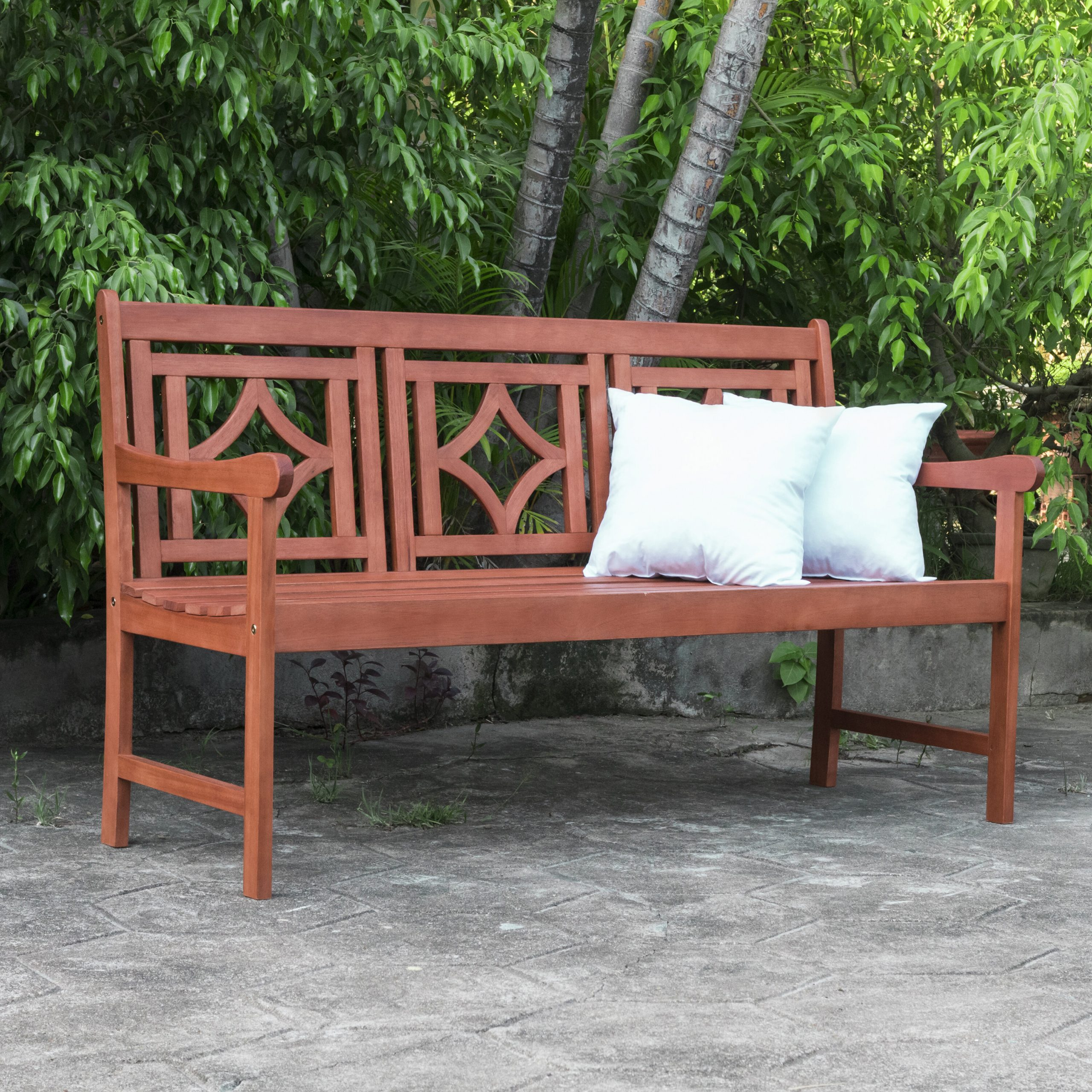 Featured Image of Amabel Patio Diamond Wooden Garden Benches