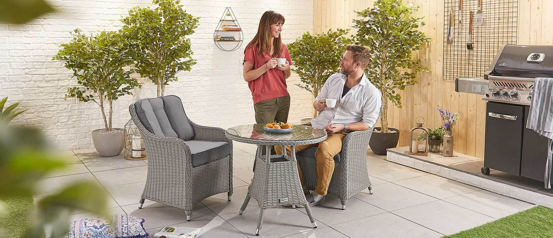 Amelia 2 Seat Bistro Set – 75Cm Round Table Intended For Messina Garden Stools Set (Set Of 2) (View 22 of 25)