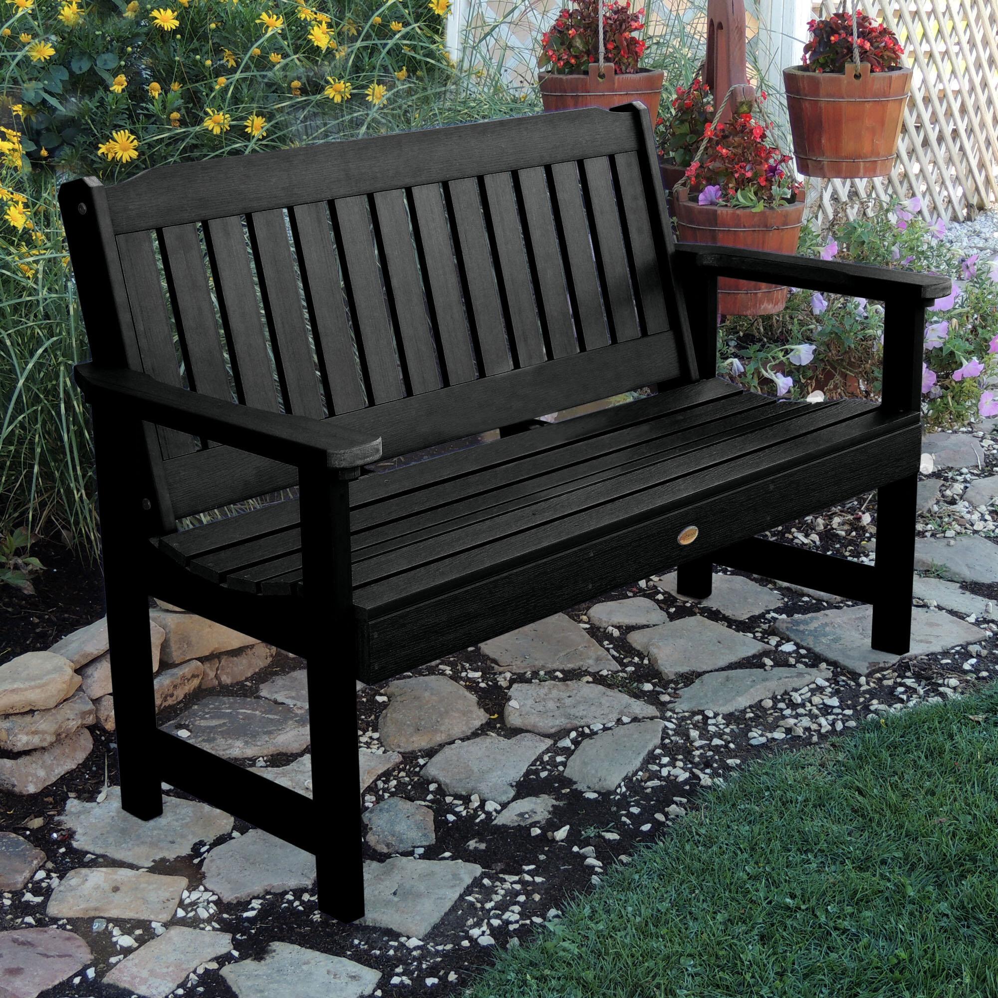 Amelia Plastic Garden Bench With Regard To Alfon Wood Garden Benches (View 23 of 25)