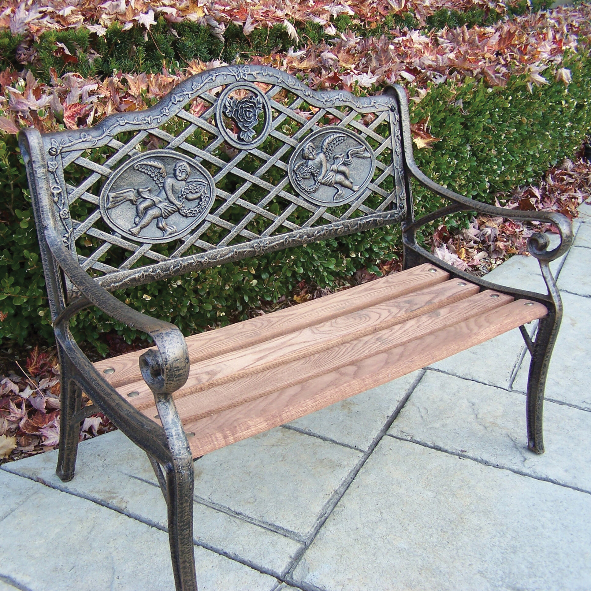 Angel Kiddy Wood And Cast Iron Park Bench In Ossu Iron Picnic Benches (View 15 of 25)
