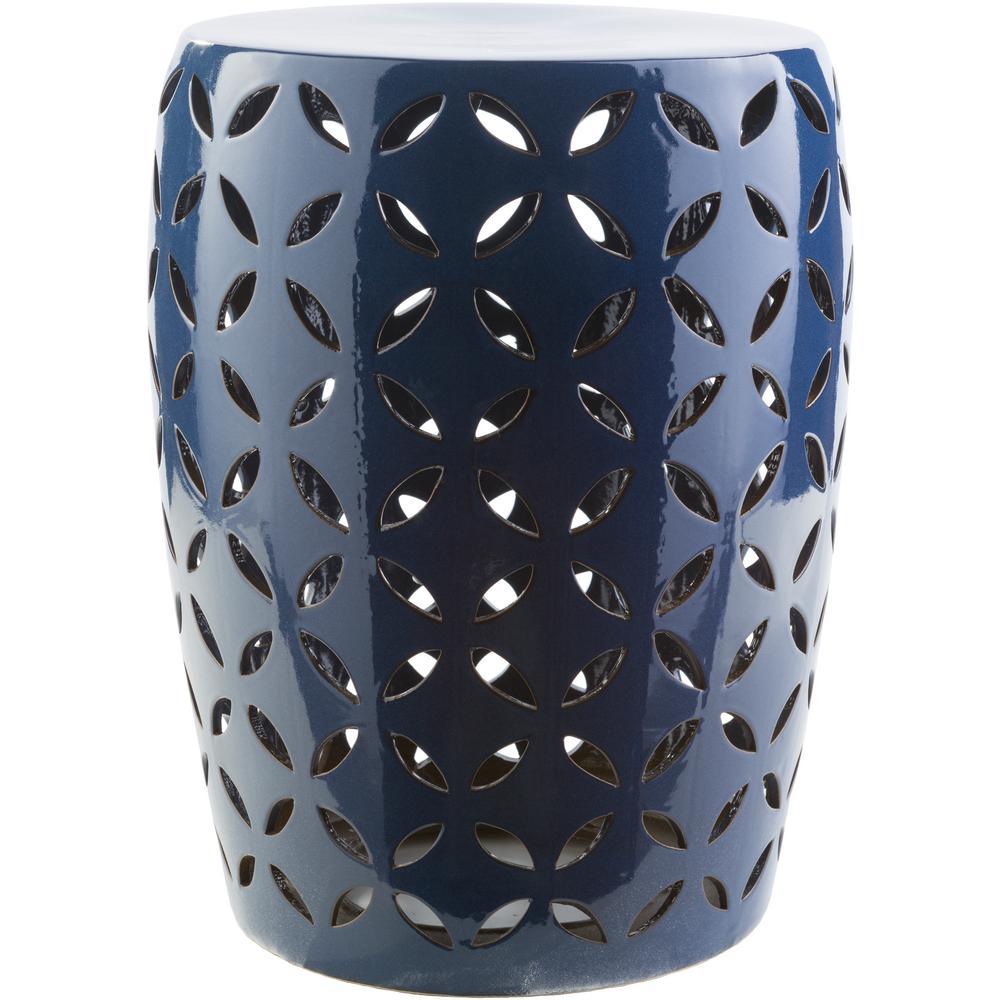 Araceli Cobalt (Blue) Garden Stool – Home Depot Within Tillia Ceramic Garden Stools (View 11 of 25)