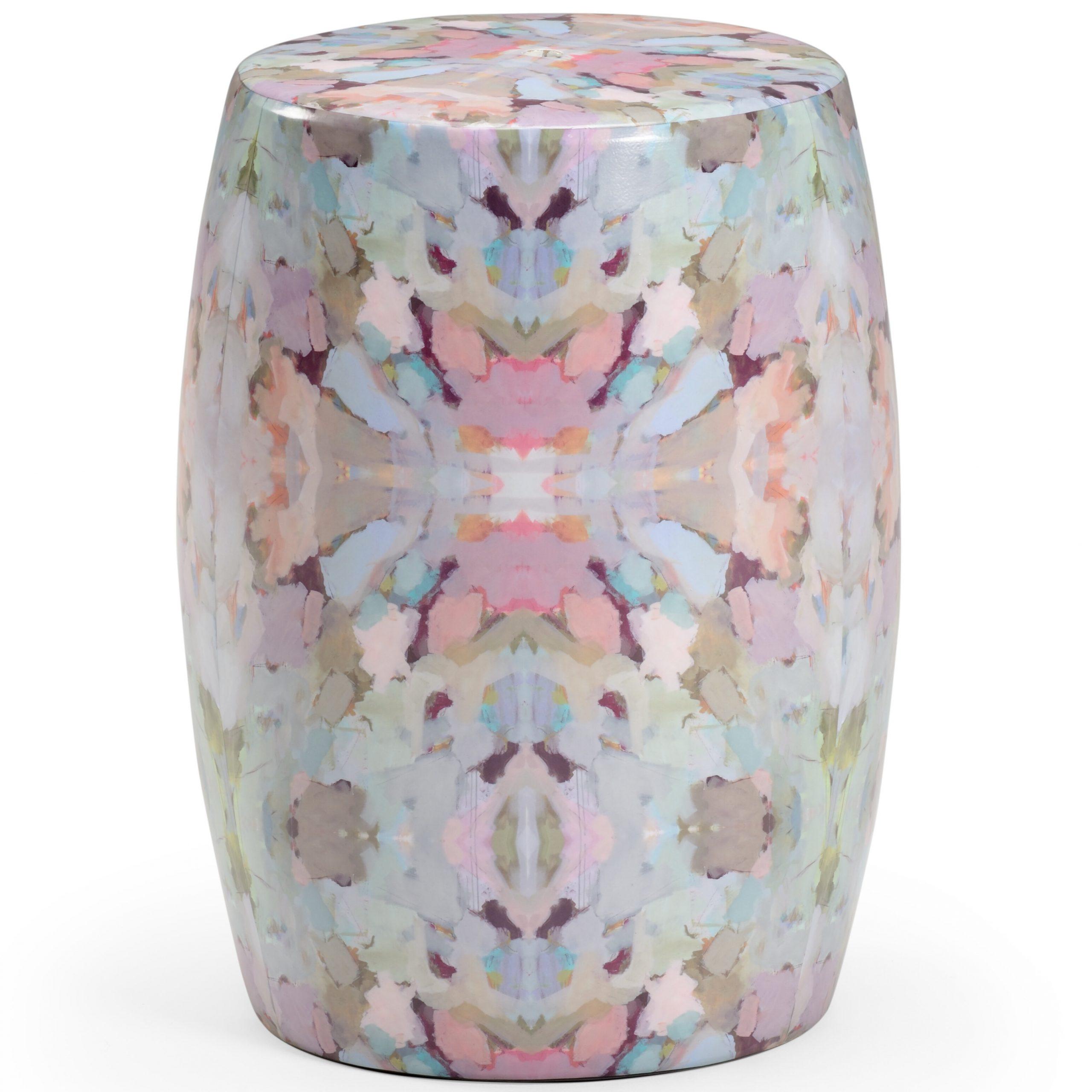 Arden Ceramic Garden Stool Intended For Williar Cherry Blossom Ceramic Garden Stools (View 3 of 25)