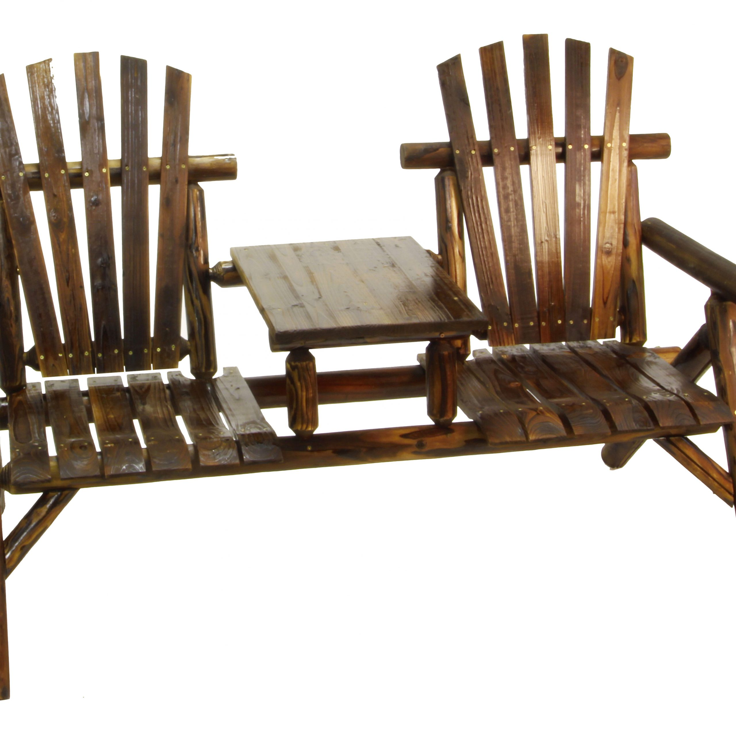 Argonne 2 Seat Fir Wood Tete A Tete Bench Intended For Lublin Wicker Tete A Tete Benches (View 8 of 25)