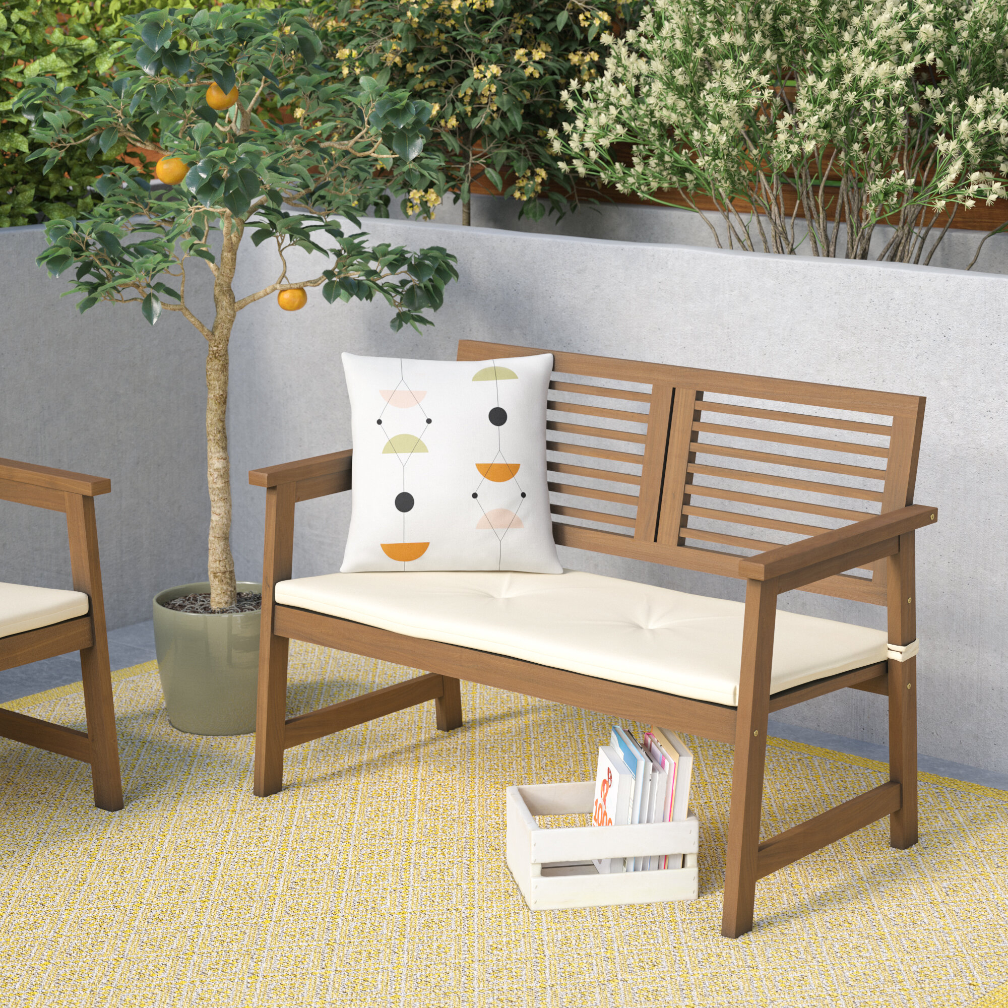 Arianna Meranti Wooden Garden Bench For Shelbie Wooden Garden Benches (View 12 of 25)