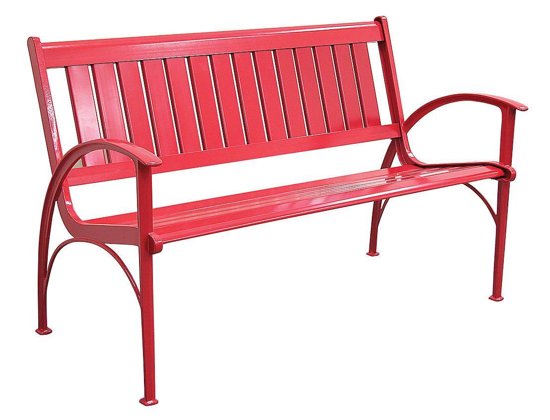 Banca Aluminio Color Rojo, 1.29 X 0.62 X (View 4 of 25)