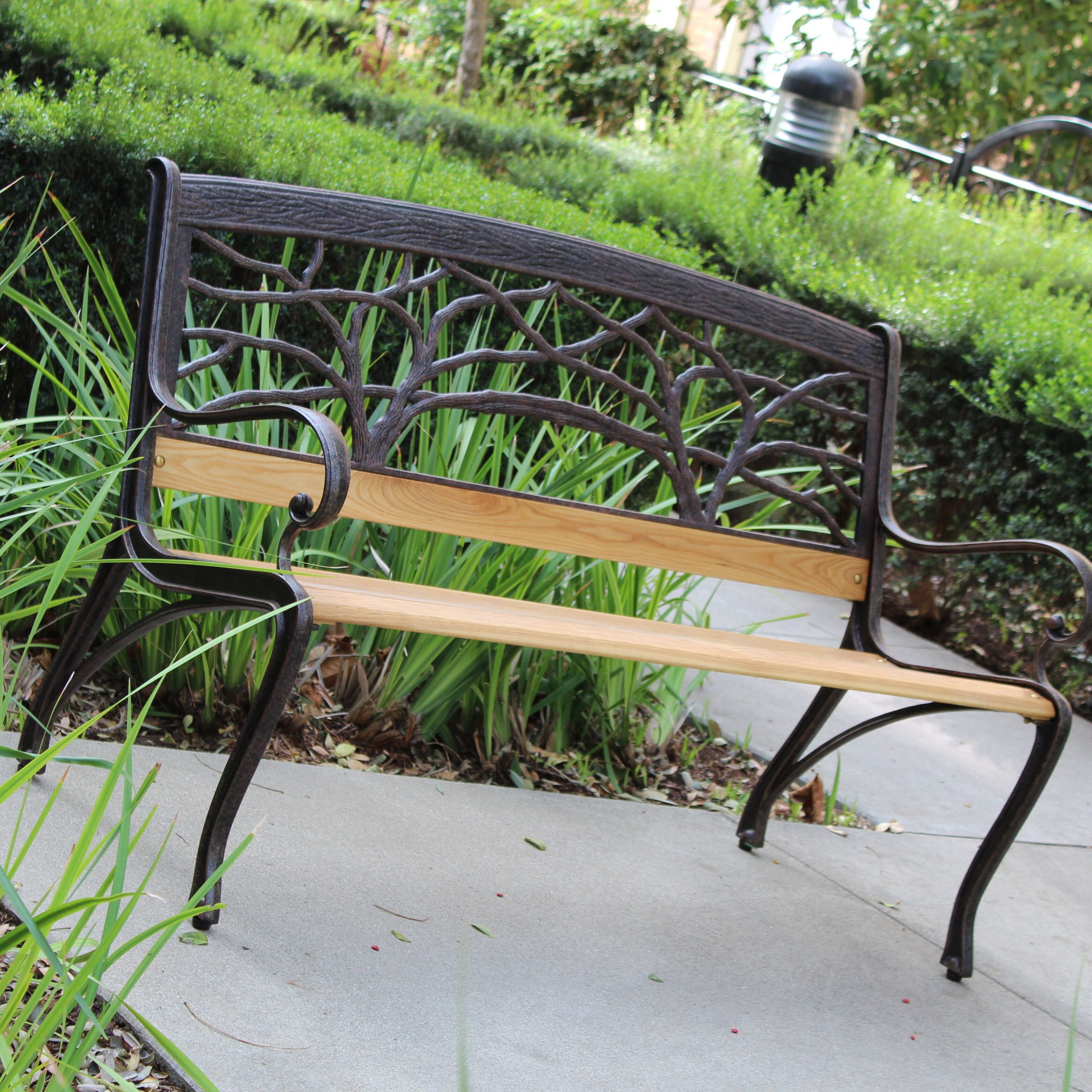 Bangalow Iron Park Bench Intended For Pettit Steel Garden Benches (View 15 of 25)
