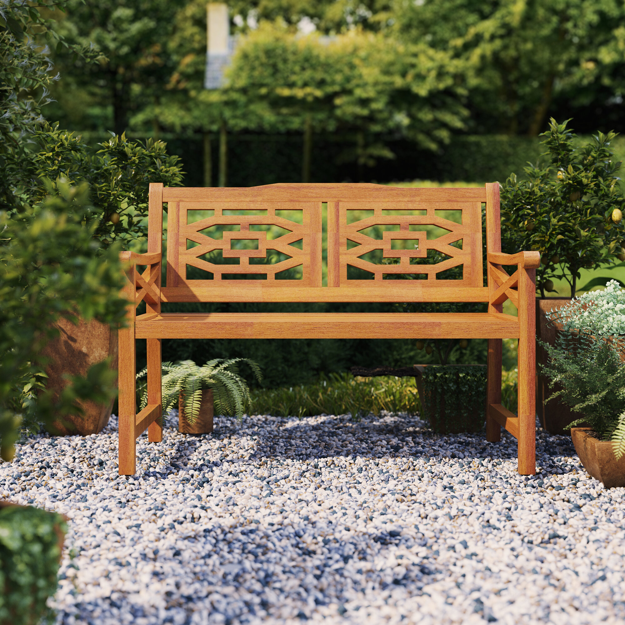 Beeches Wooden Garden Bench Throughout Ahana Wooden Garden Benches (View 9 of 25)