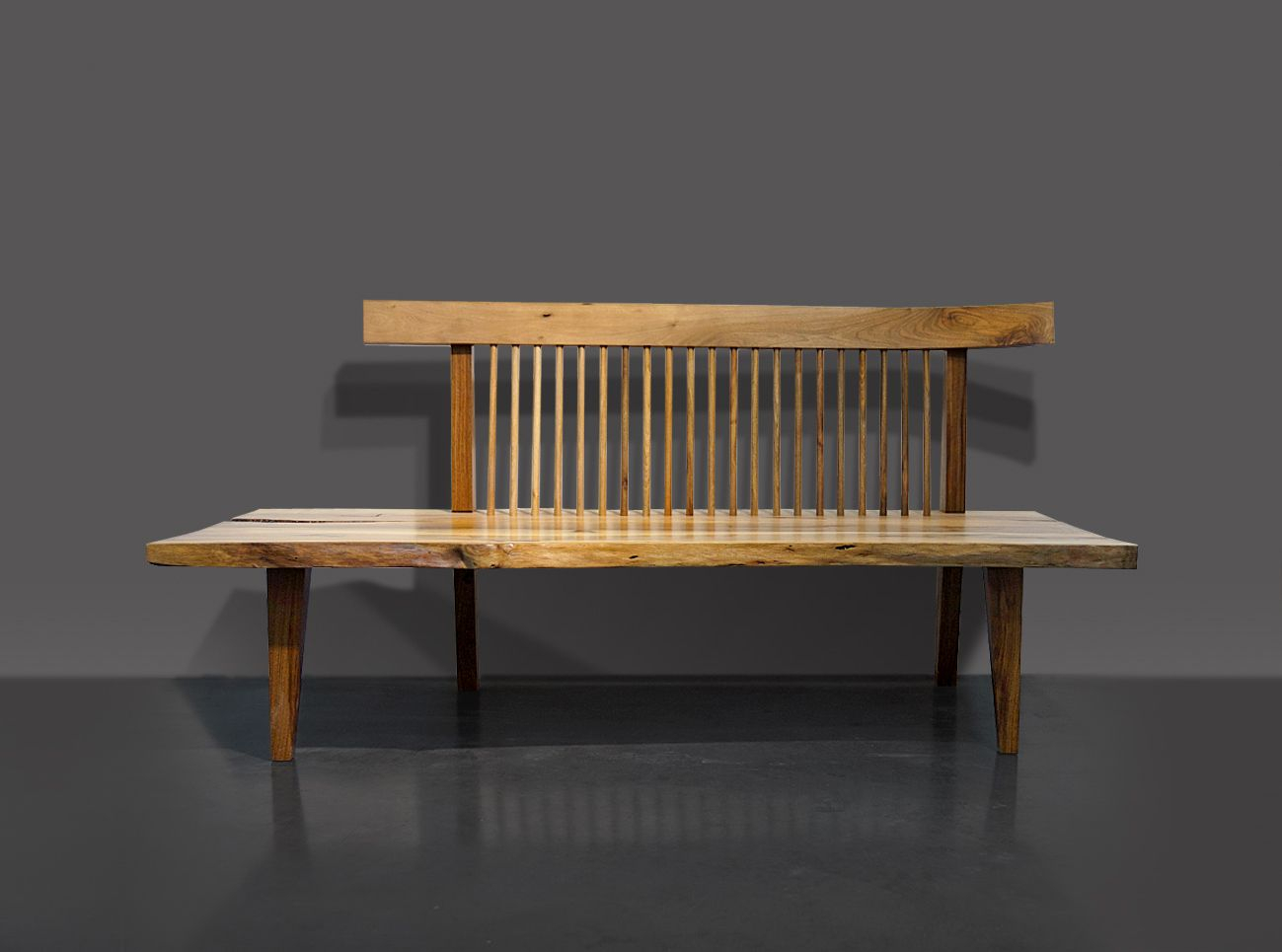 Bench Jpn 19 | Solid Walnut, Outdoor Furniture, Decor Throughout Walnut Solid Wood Garden Benches (View 2 of 25)