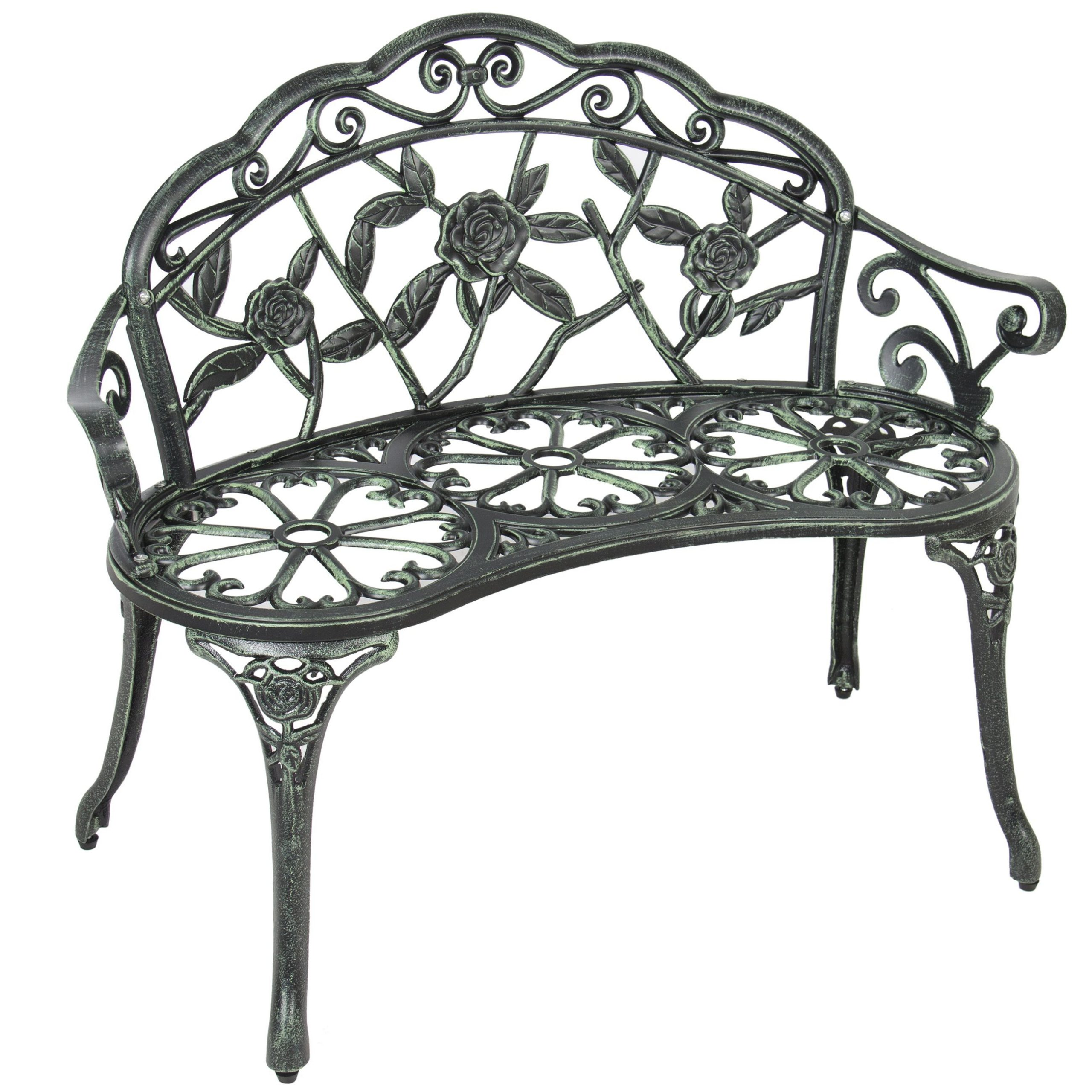 Best Choice Products 39In Steel Garden Bench For Outdoor Pertaining To Montezuma Cast Aluminum Garden Benches (View 17 of 25)