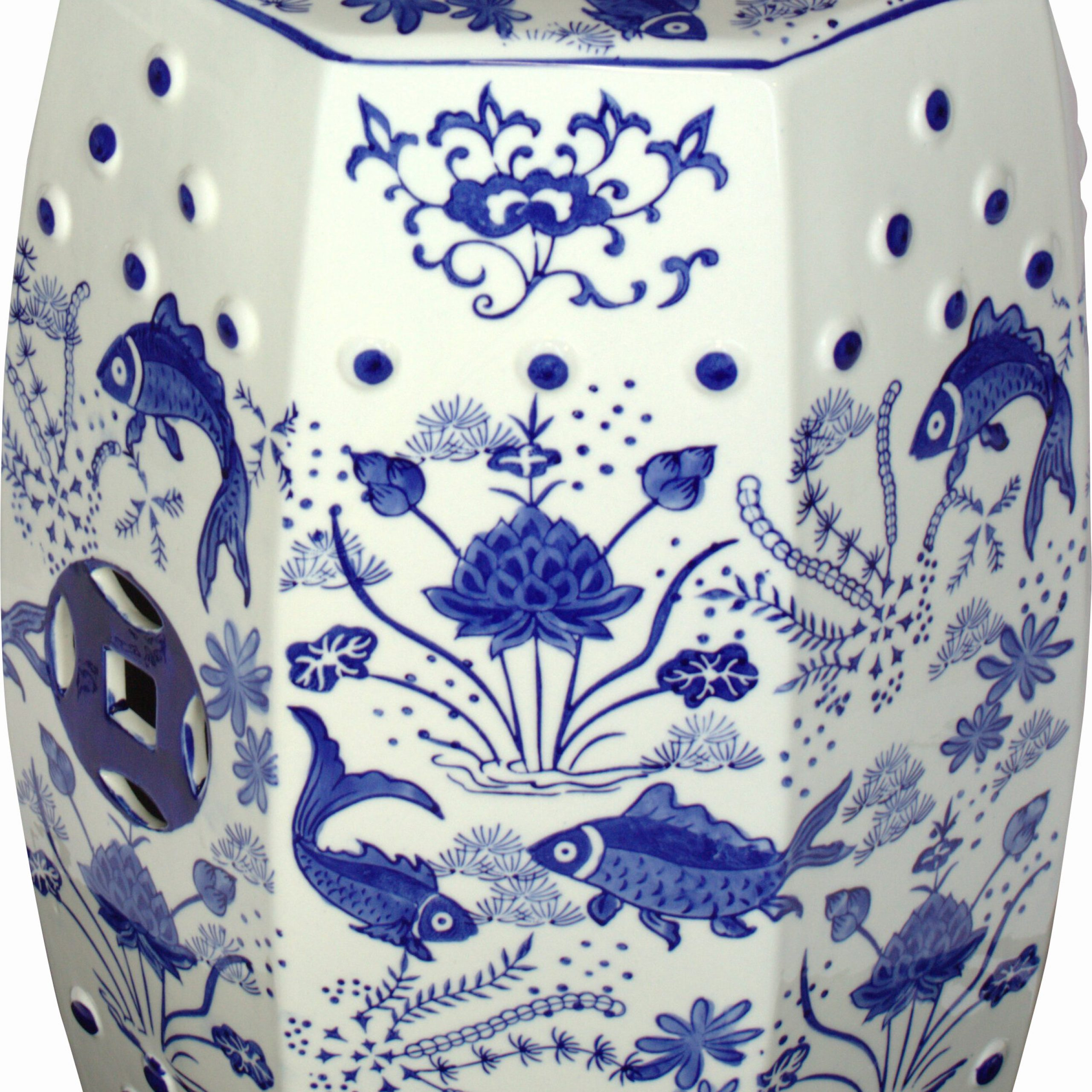 Bilmont Ceramic Garden Stool Inside Winterview Garden Stools (View 24 of 25)
