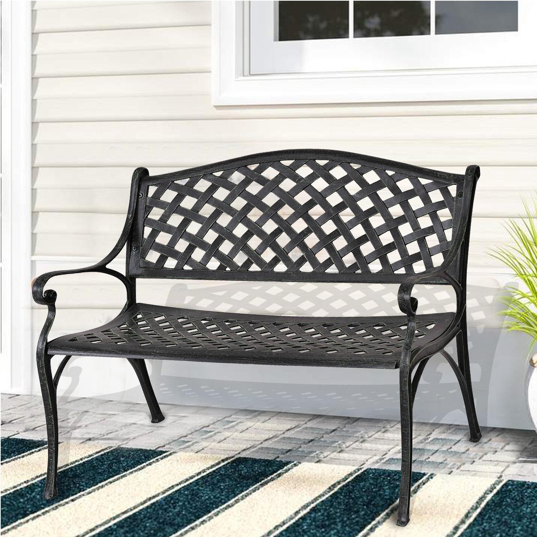 Binne Aluminum Garden Bench With Regard To Zev Blue Fish Metal Garden Benches (View 9 of 25)