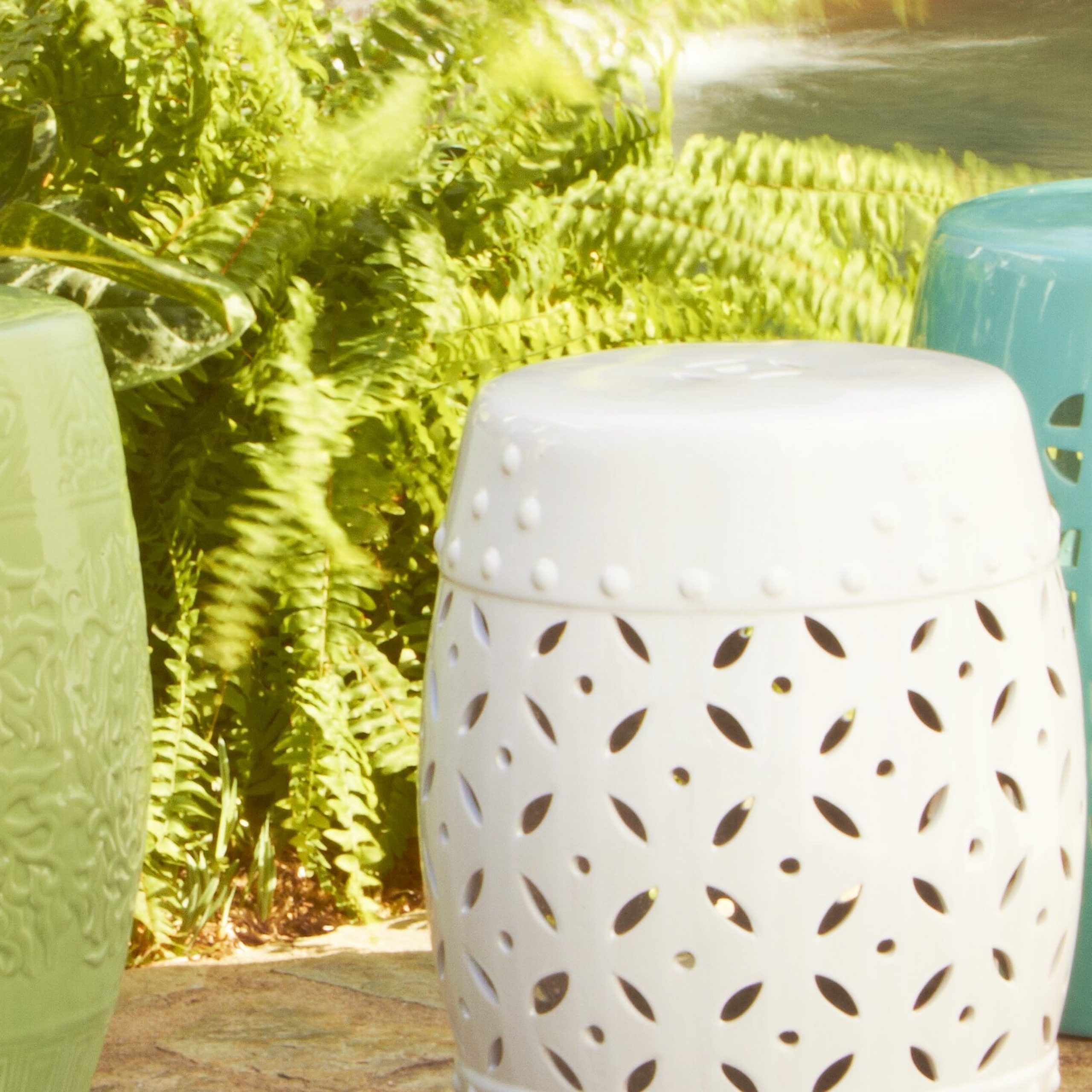Birch Lane: Farmhouse & Traditional Furniture – Made To Last With Holbrook Ceramic Garden Stools (View 21 of 25)