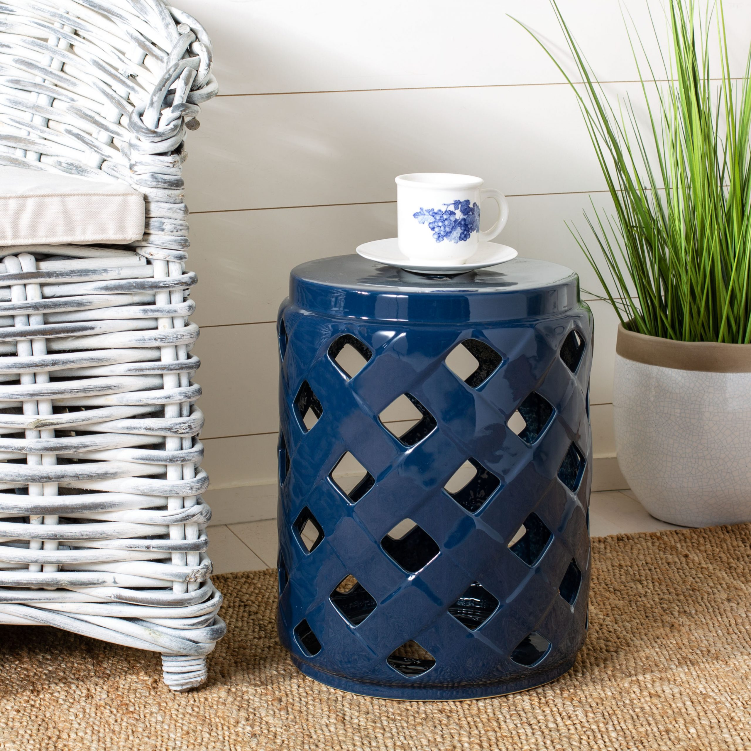 Blue Ceramic Garden Stools You'Ll Love In 2020 | Wayfair With Regard To Wurster Ceramic Drip Garden Stools (View 10 of 25)
