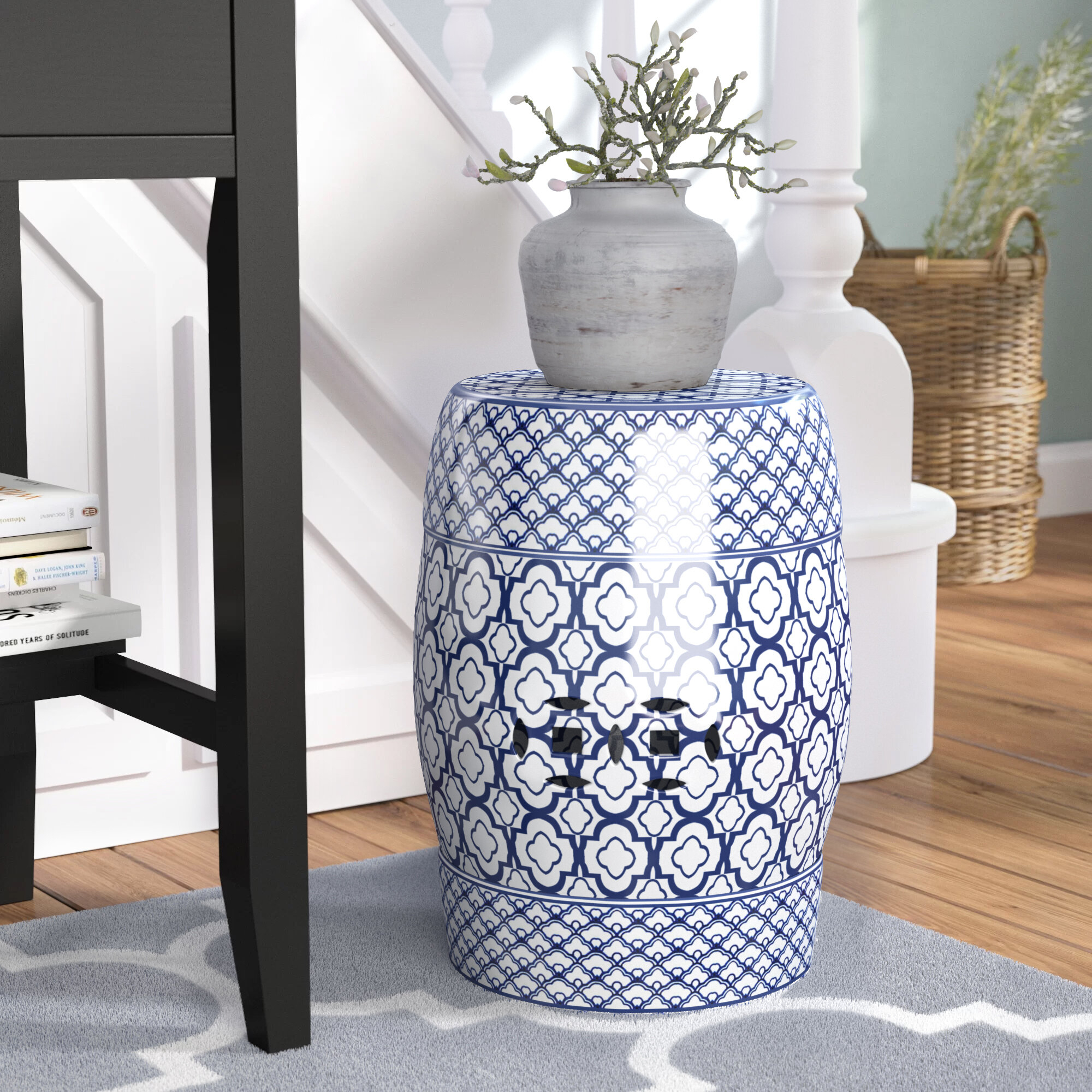 Blue Garden Accent Stools You'Ll Love In 2020 | Wayfair Pertaining To Wurster Ceramic Drip Garden Stools (View 5 of 25)