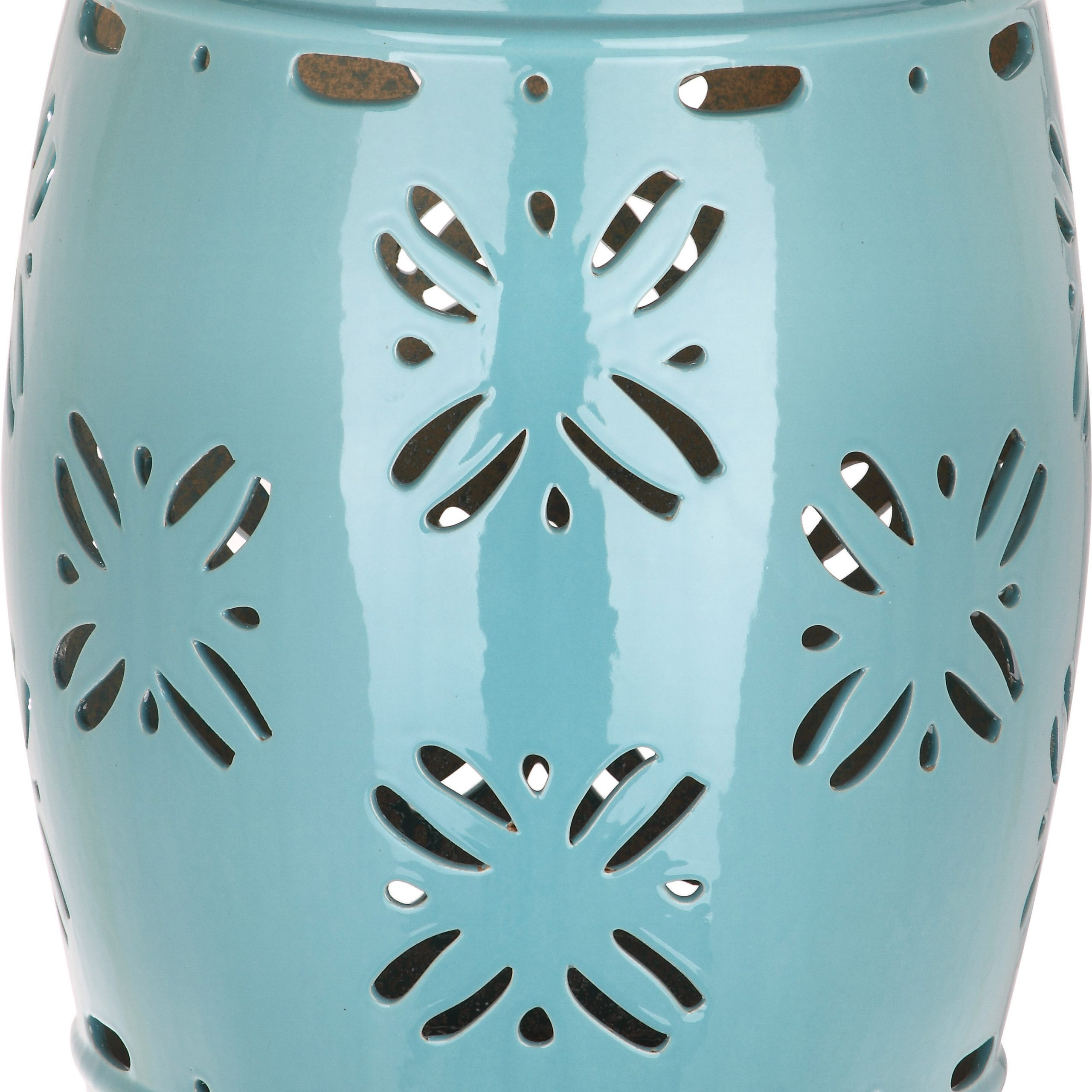 Blue & Green Garden Stools You'Ll Love In 2020 | Wayfair Within Glendale Heights Birds And Butterflies Garden Stools (View 5 of 25)
