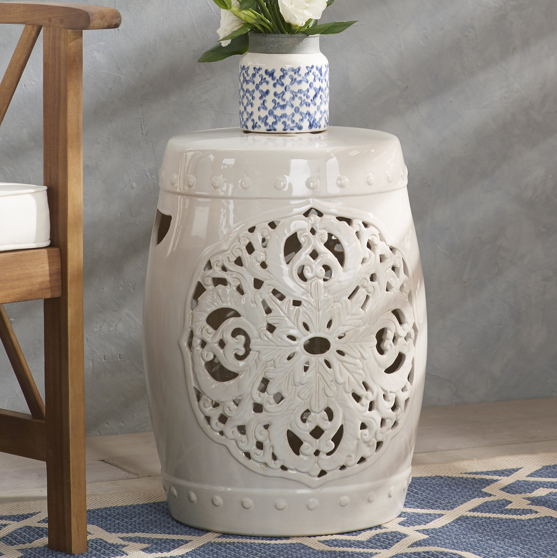 Blue & White Garden Stools You'Ll Love In 2019 | Wayfair Inside Swanson Ceramic Garden Stools (View 14 of 25)