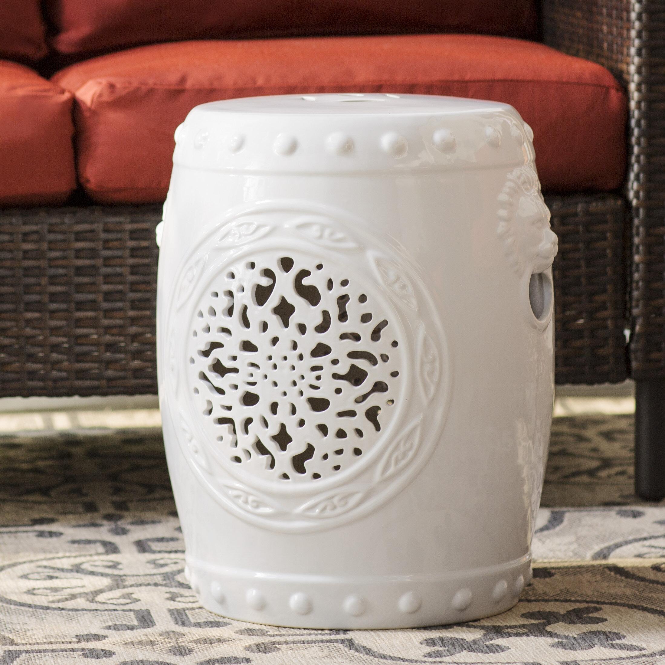 Blue & White Garden Stools You'Ll Love In 2020 | Wayfair Inside Middlet Owl Ceramic Garden Stools (View 8 of 25)