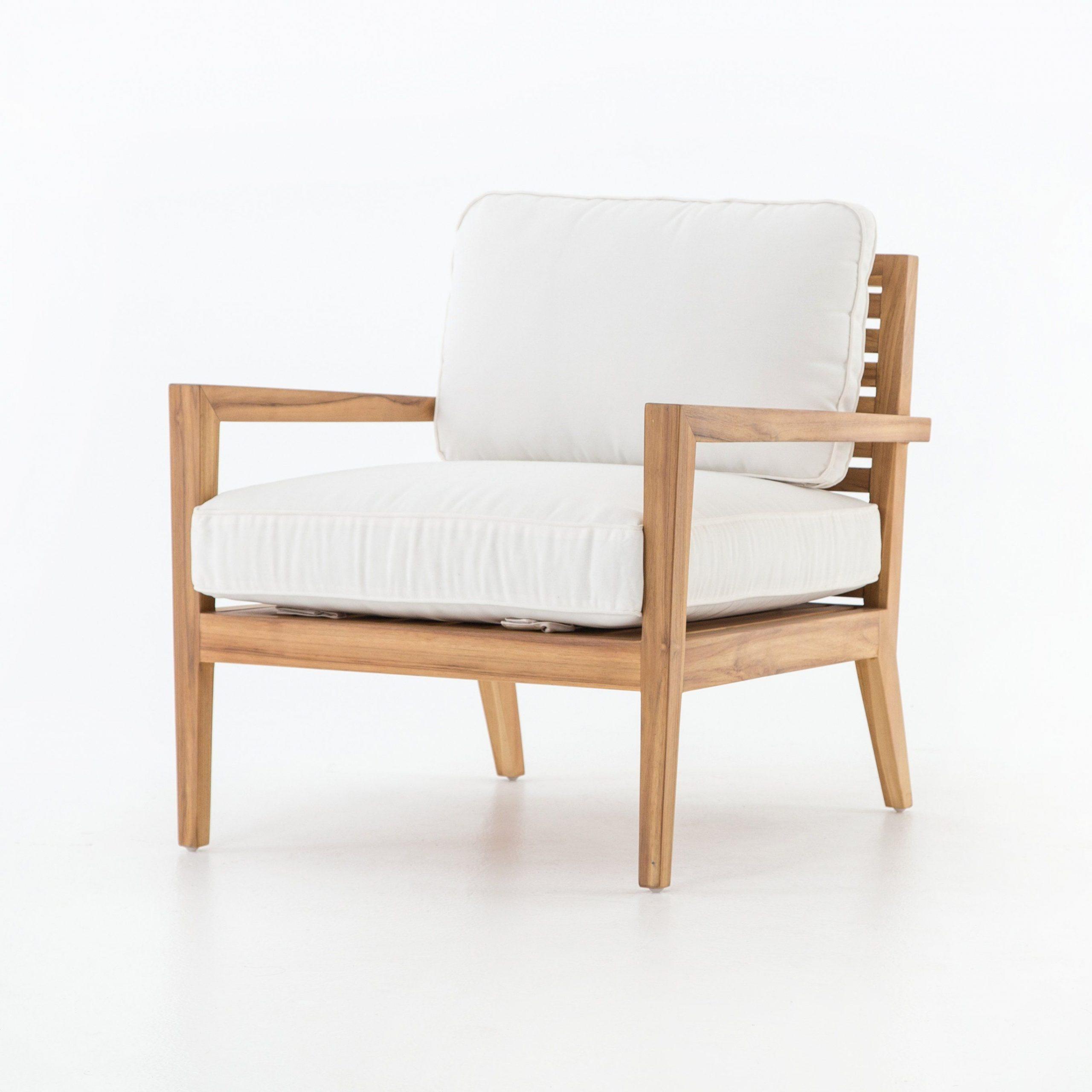 Brecken Outdoor Chair – Canvas White #Outdoorchair | Outdoor Inside Brecken Teak Garden Benches (View 17 of 25)