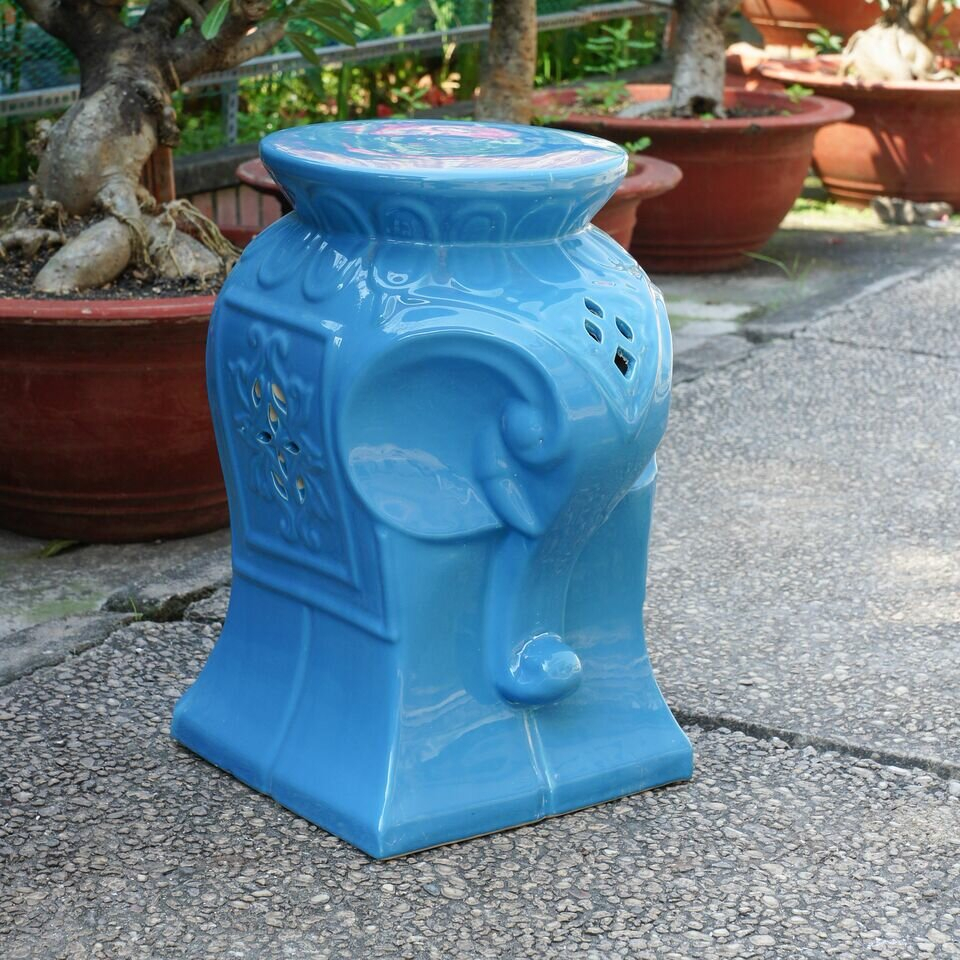 Burleson Elephant Ceramic Garden Stool For Keswick Ceramic Garden Stools (View 18 of 25)